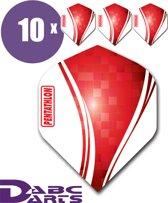 ABC Darts Flights Pentathlon Wave 10 sets (30 Dart Flights) - Rood