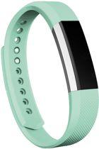 KELERINO. Siliconen bandje voor Fitbit Alta - Licht Groen - Large