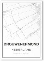 Poster/plattegrond DROUWENERMOND - A4