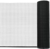 Tuinhek met Draden 10x0.6m Zwart HDPE - Bedraad Tuinhek - Omheiningssysteem Wildhek verzinkt -