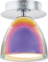 EGLO Acento Opbouwlamp - 1 Lichts - Chroom - Wit, Regenboogkleur