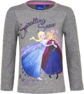 Frozen grijs shirt - Spiralling snow - 5 jaar