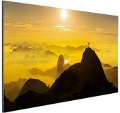 FotoCadeau.nl - Zonsopkomst in Rio de Janeiro Aluminium 60x40 cm - Foto print op Aluminium (metaal wanddecoratie)