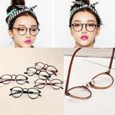 Stijvolle Nerdbril Zonder Sterkte -  Retro Bril Stijl - Zwart