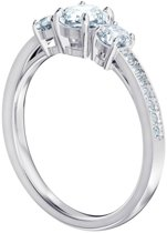 Swarovski Attract Trilogy White Ring  (Maat: 55) - Zilver