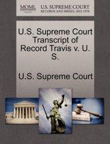 U.S. Supreme Court Transcript of Record Travis V. U S