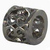 Quiges -Verzilverde Aanschuif Charm Bedel Ornament Design voor Quiges Wikkelarmbanden