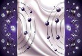 Fotobehang Purple Diamond Abstract Modern | XXL - 312cm x 219cm | 130g/m2 Vlies