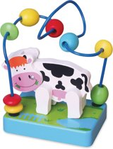 Afbeelding van Viga Toys - Mini Kralenframe - Koe speelgoed
