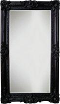 Qweens - Spiegel - Linda- zwart - buitenmaten breed 86 cm x hoog 146 cm.