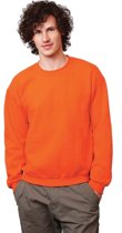 Oranje sweater voor dames en heren L
