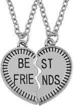 Fako Bijoux® - Vriendschapsketting - Harten Best Friends - Rand