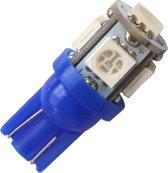 T10 - BLAUW - 5 LED - 12V - 5050 SMD