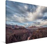 Het berglandschap in het Nationaal park Wolin in polen Canvas 180x120 cm - Foto print op Canvas schilderij (Wanddecoratie woonkamer / slaapkamer) XXL / Groot formaat!