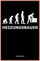 Heizungsbauer: A5 Notizbuch Blank / Blanko / Leer 120 Seiten mit Seitenzahl f�r Heizungsbauer und Installateur I Geschenkidee f�r Ber