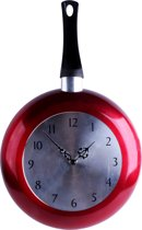 "Imperial Kitchen Klok ""Koekenpan"" - 24 cm - Rood"