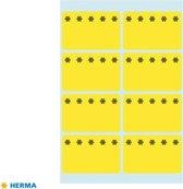 Herma diepvriesetiketten 26x40mm Fluor-Geel 48 stuks