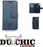 Dutchic - Echt Leer hoesje - Apple iPhone X / Xs Wallet Case (Nacht blauw)