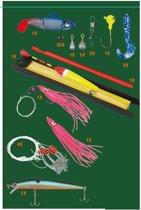 Visbox met Accessoires voor Zoutwatervissen (47 delig)