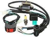 Bedrading Loom Kill Switch Coil CDI Spark Plug Kit voor 110cc 125cc 140cc Pit Bike