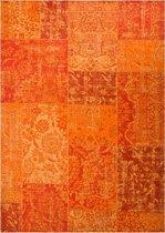 Vintage vloerkleed met Retro Patchwork Patroon - 160x230cm - Oranje