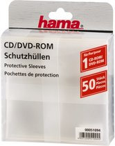 Hama Cd/Dvd Rom Hoezen - 50 stuks / Transparant