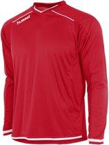 Hummel Leeds Sportshirt performance - Maat 140  - Unisex - rood/wit