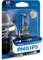 Philips Vision Autolamp H1 12V 55W Tot 30% meer zicht vergeleken met een standaardlamp Koplamp