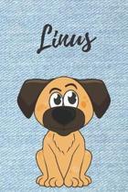 Linus Hunde-Notizbuch / Malbuch / Tagebuch: Individuelles personalisiertes blanko Jungen & M�nner Namen Notizbuch, blanko DIN A5 Seiten. Ideal als Uni