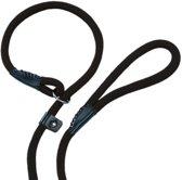 Nobby fun retriever lijn lijn en halsband in 1 zwart 1,3 x 170 cm - 1 st