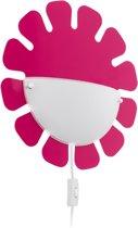 EGLO Leonie Wandlamp Kinderkamer - 1 Lichts - Roze - Wit Gelakt
