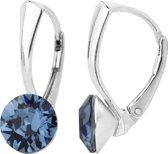 ARLIZI 1257 Oorbellen Swarovski Kristal - Dames - 925 Sterling Zilver - 8 mm - Blauw