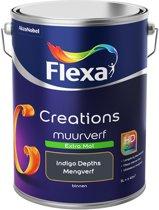 Flexa Creations Muurverf - Extra Mat - Mengkleuren Collectie - Indigo Depths - 5 Liter