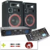 Complete Bluetooth DJ geluidsinstallatie 1000W