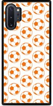 Galaxy Note 10 Plus Hardcase hoesje Orange Soccer Balls