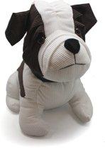 Deurstopper hond - 1.2 kg - Wit/Bruin