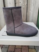 HKM Davos waterproof en bontgevoerde (stal)schoen  grijs maat 38