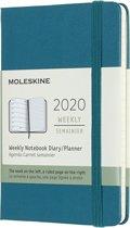 Moleskine 12 Maanden Agenda 2020 - Wekelijks - Pocket (9x14 cm) - Magnetic Green - Harde Kaft