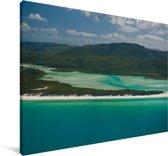 Panorama van het landschap van de Whitsundayeilanden Canvas 140x90 cm - Foto print op Canvas schilderij (Wanddecoratie woonkamer / slaapkamer)