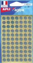 Agipa ronde etiketten in etui diameter 8 mm, zilver, 308 stuks, 77 per blad