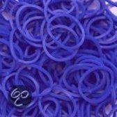 Loom bandjes 600 stuks Marine blauw