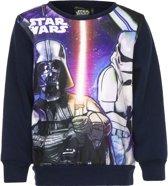 Star Wars sweater - Darth Vader - Blauw met zwart - maat 104 cm - 4 jaar