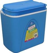 Koelbox JY&K | 24 liter koelboxen | koel box | blauw / wit