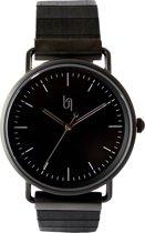 Urban Jungle | Horloge met houten bandje| All black | Ebbenhout