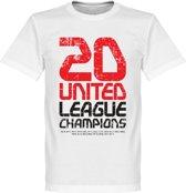 Manchester United 20 League Champions T-Shirt - L