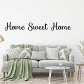 Muursticker Home Sweet Home -  Zilver -  120 x 15 cm  - Muursticker4Sale