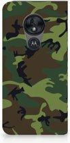 Standcase Hoesje Motorola Moto G7 Power Design Army Dark