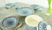 Complete Marokkaanse handgemaakte en handbeschilderde (couscous) servies set
