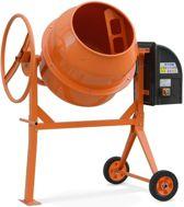 Betonmixer oranje, betonmolen, cementmixer