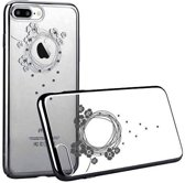 Crystal Garland PC Case Cover voor Apple iPhone 7 Plus / 8 Plus - Zwart